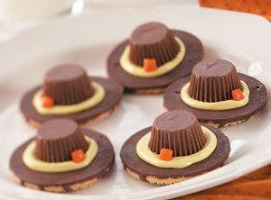 Pilgrim Hat Cookies Recipe
