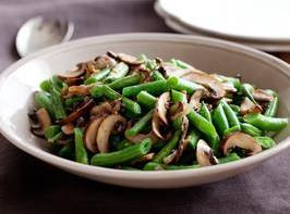 Green Beans with Mushroom and Shallots Recipe | Just A Pinch Recipes