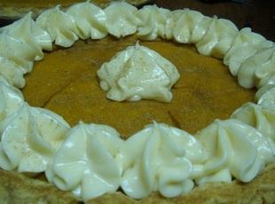 Maple Pumpkin pie with Maple Butter Cream Recipe