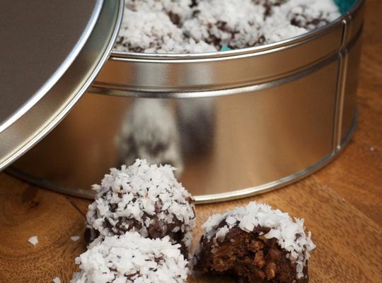 Coconut Ganache Bourbon Balls Recipe