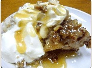 Praline Pecan Bread Pudding with Rum Sauce Recipe