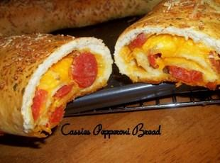 Pepperoni / Cheese Bread, Cass's way Recipe