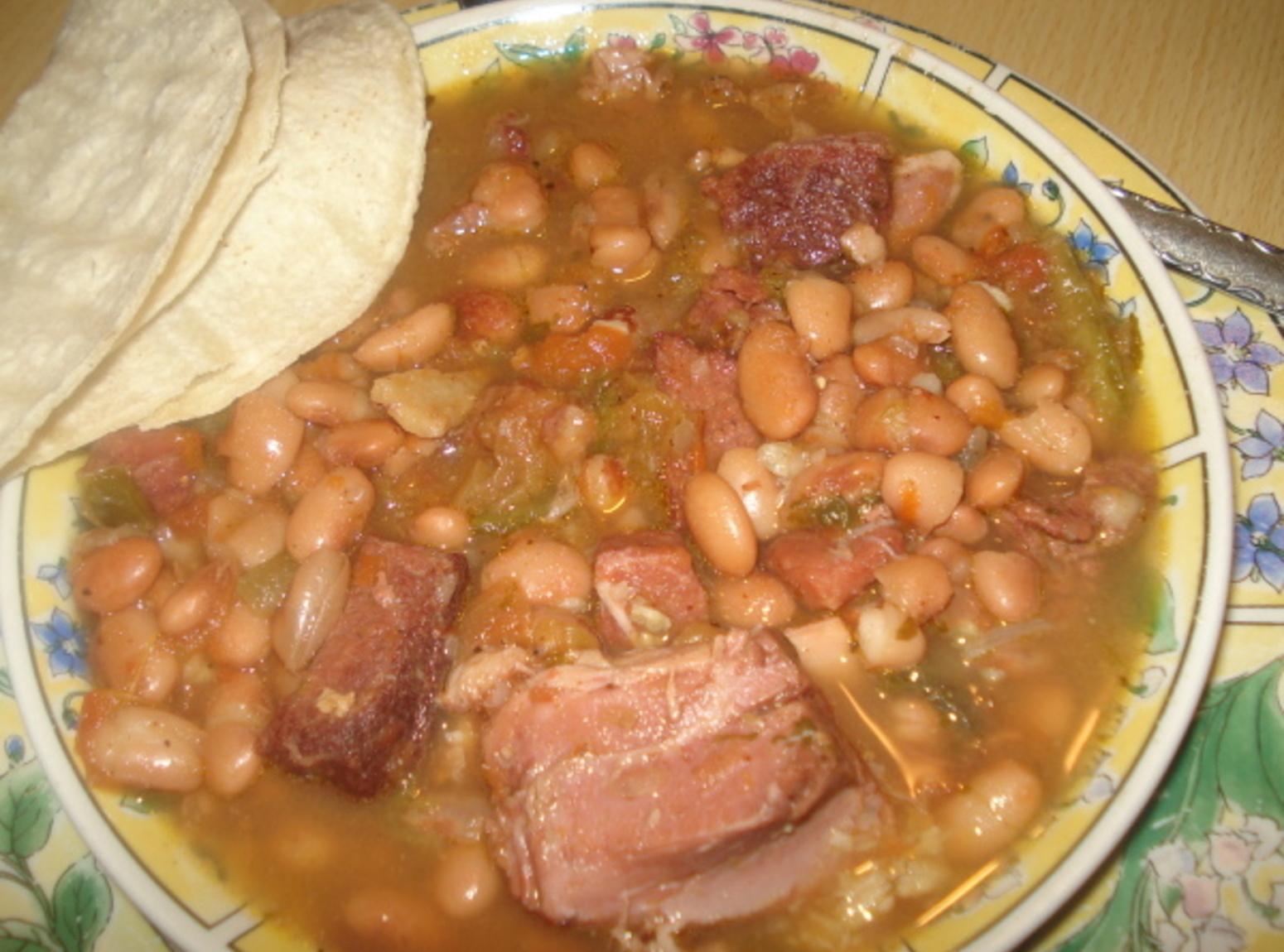 Mexican Charro Pinto Beans, Frijoles Charros Pintos Recipe