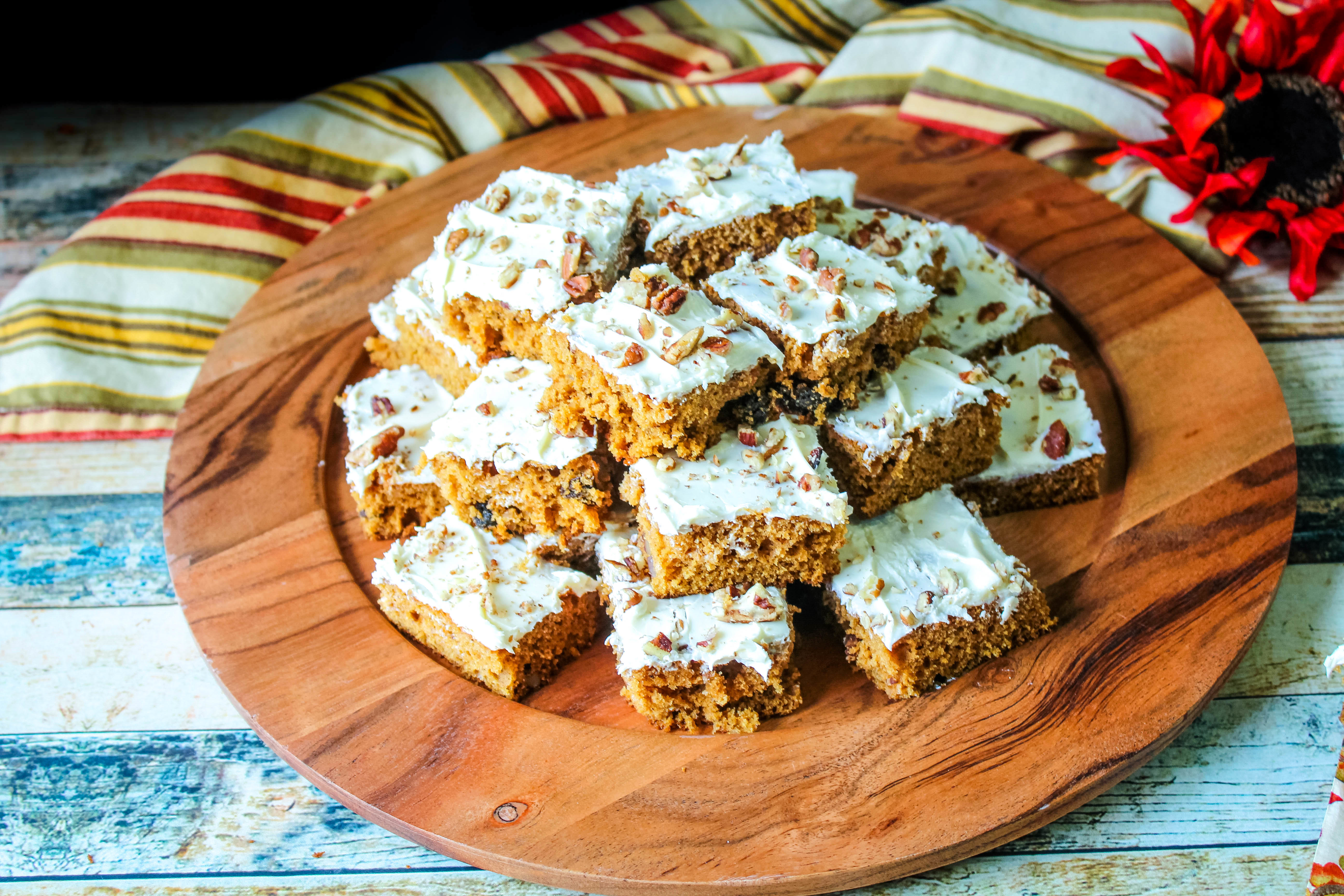 Frosted Spicy Sweet Potato Bars Recipe