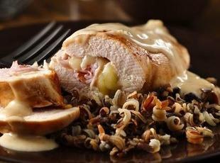 Stuffed Chicken Cordon Bleu Rolls Recipe