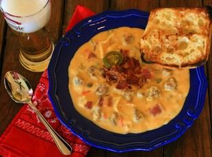 Loaded Rich and Creamy Cheesy Cheddar Beer Soup Recipe