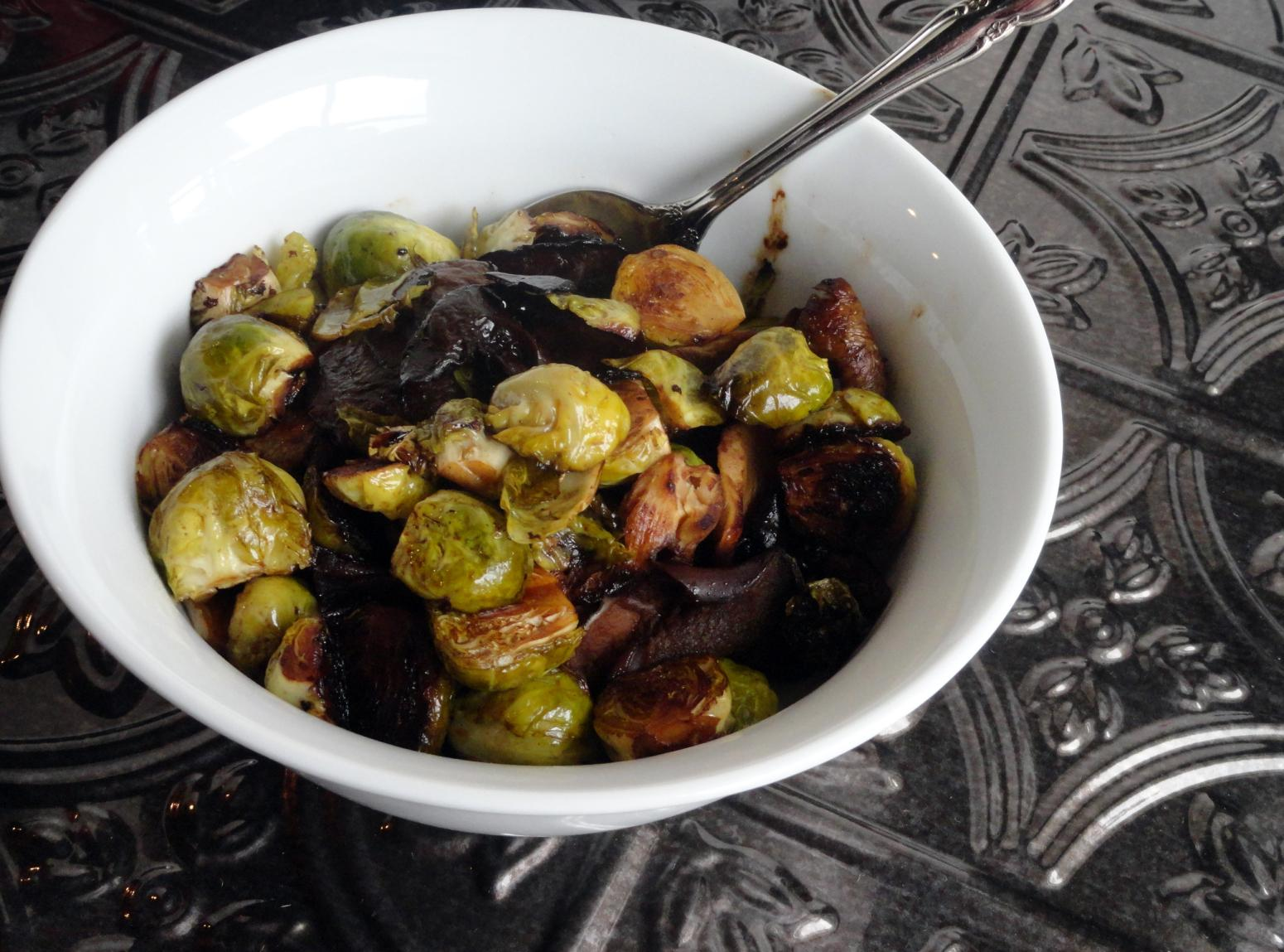 Sherry Balsamic Caramelized Brussels Sprouts Recipe | Just A Pinch ...