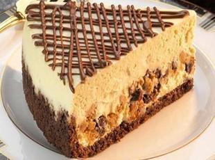 Peanut Butter & Milk Choc. Chip Layered Cheesecake Recipe