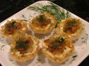 Salmon Mousse Tartlets w/Balsamic Caramelized Onio Recipe