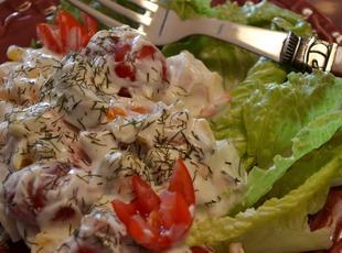Cool & Creamy Cucumber & Pepper Salad