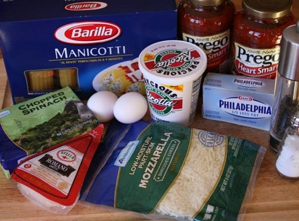 Spinach & Cheese Stuffed Manicotti Recipe | Just A Pinch Recipes