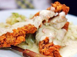 Chicken Fried Steak Strips with White Milk Gravy Recipe