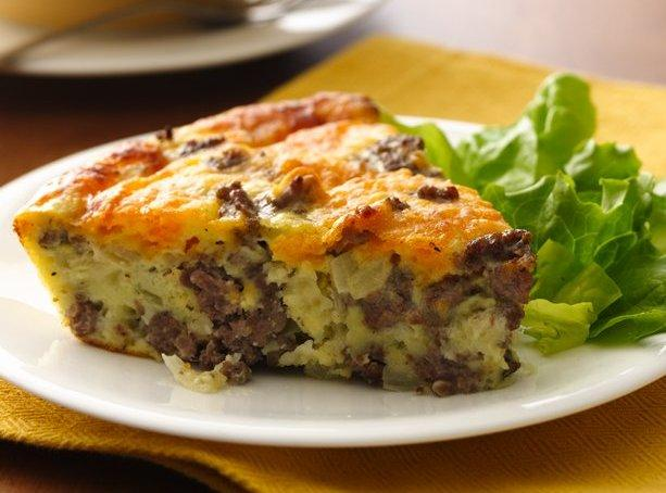 Gluten Free Impossibly Easy Cheeseburger Pie Recipe   Just A Pinch ...
