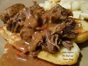 Italian inspired Pot Roast with Tomato Gravy Recipe