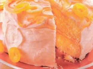 Sour Peach Frosted Peach Cake Recipe