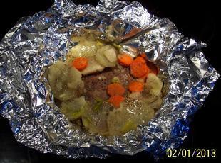 HOBO PKG.  OR DINNER BAKED in a FOIL WRAP Recipe