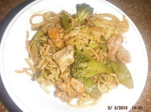 Stir Fry with Chicken and Yakisoba Noodles Recipe