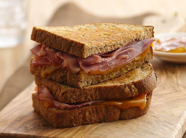 Grilled Ham, Cheddar and Chutney Sandwich Recipe | Just A Pinch ...