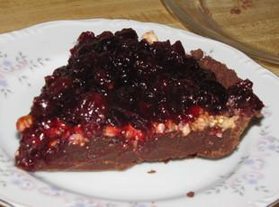 Cran-Cranberry Honey Fudge Pie