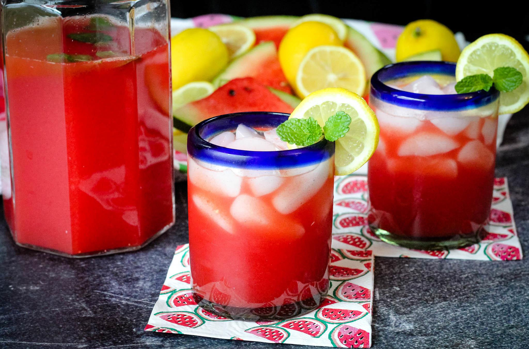 Watermelon Mint Lemonade Recipe | Just A Pinch Recipes