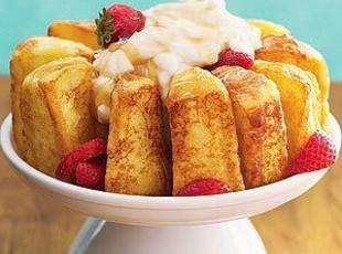 FRENCH-TOASTED ANGEL FOOD CAKE Recipe