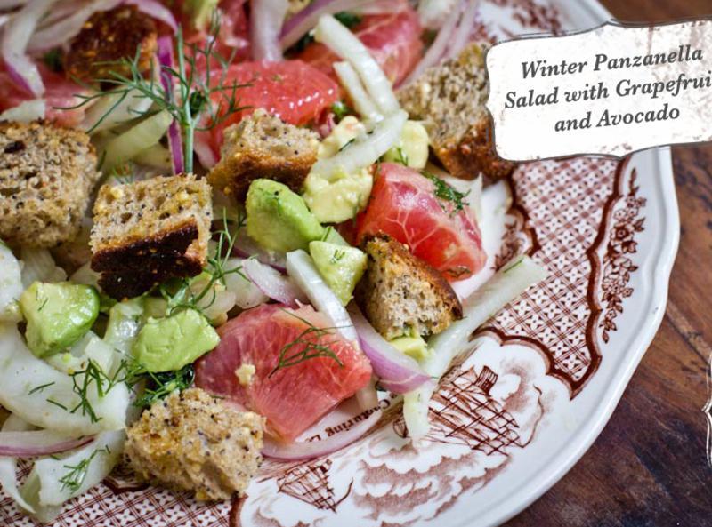 Winter Panzanella Salad with Grapefruit, Fennel and Avocado Recipe ...