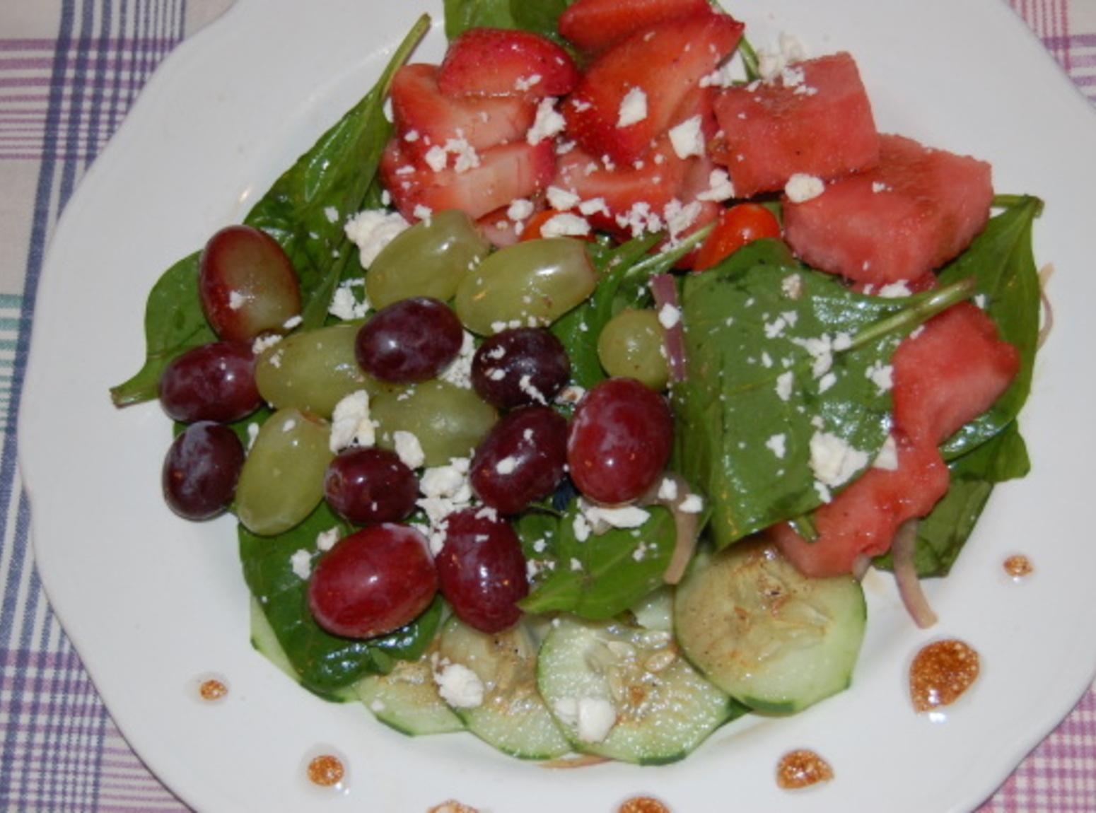 WATERMELON & BABY SPINACH W/BALSAMIC VINAIGRETTE Recipe