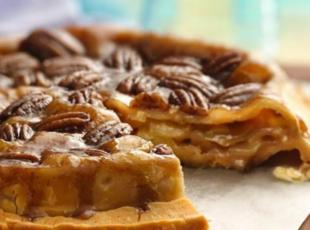 Pecan Up Side Down Applie Pie Recipe