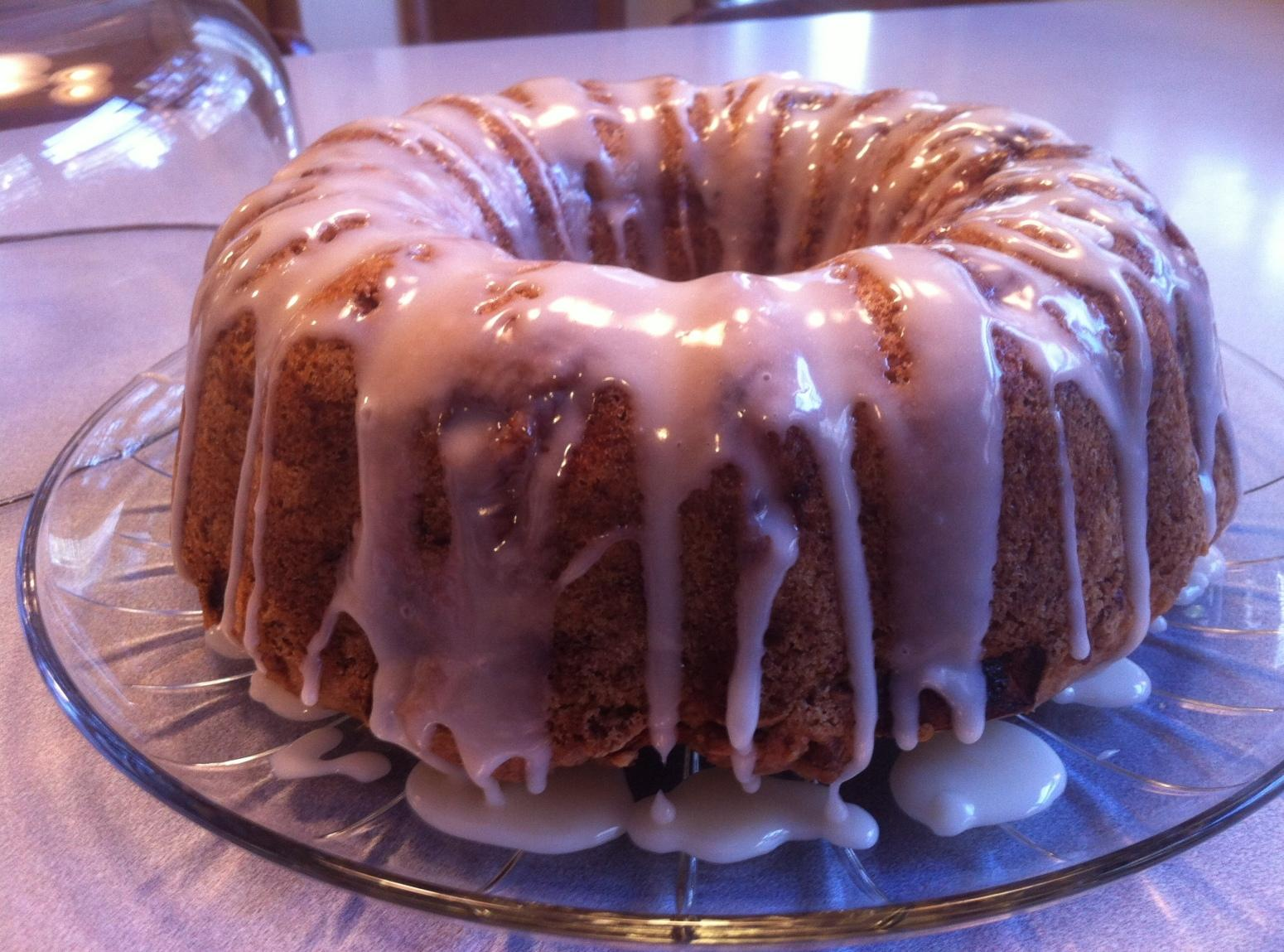FRESH APPLE CAKE WITH HONEY GLAZE Recipe