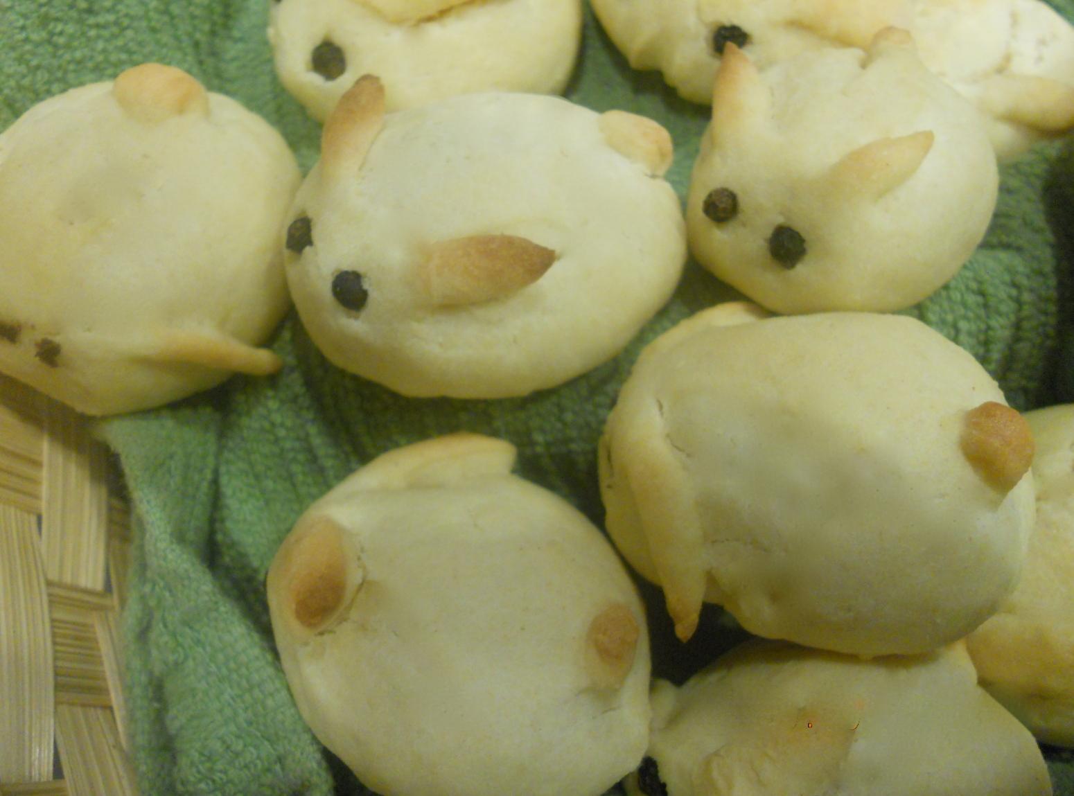 Sweet Bunny Bread Rolls Recipe