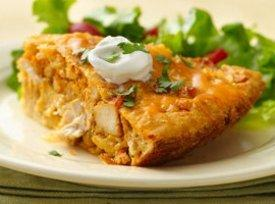 Impossibly Easy Chicken Taco Pie Recipe | Just A Pinch Recipes