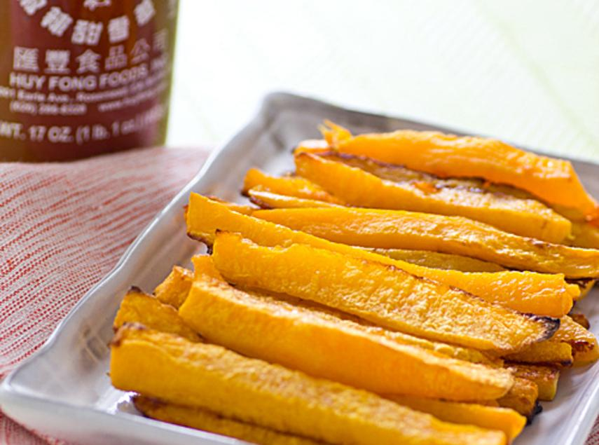 baked sriracha butternut squash fries Recipe | Just A Pinch Recipes