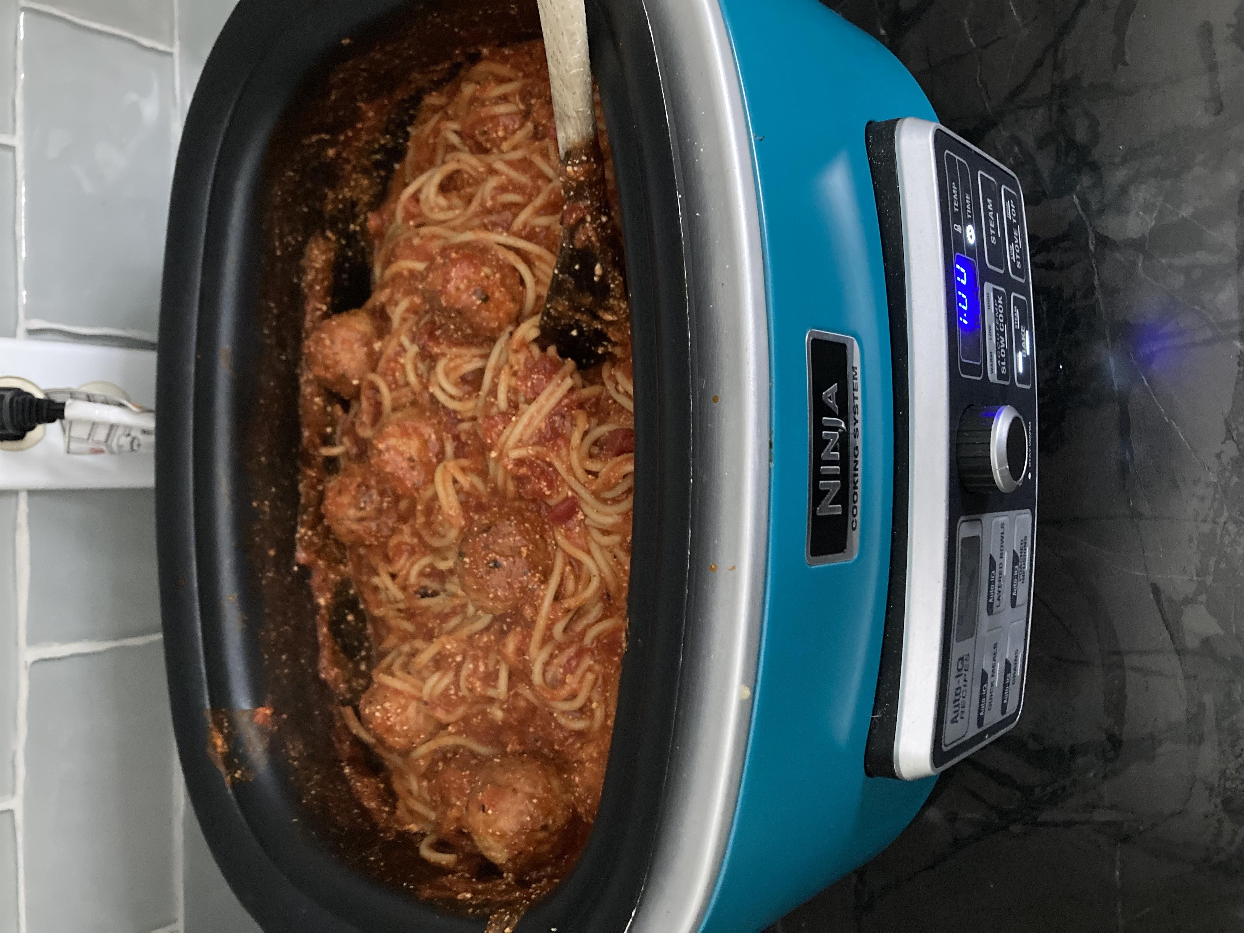 Spaghetti & Meatballs in Ninja Cooking System Recipe