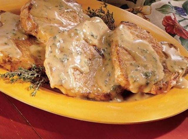 Braised Pork Chops With Cream Gravy Recipe | Just A Pinch Recipes