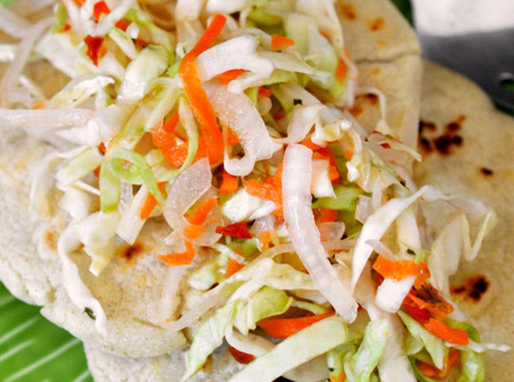 Salvadoran Pupusas con Curtido (Masa Cakes with Cabbage Slaw) Recipe ...