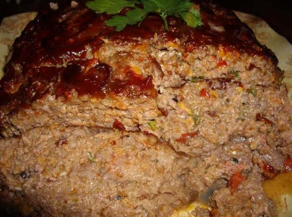 Glazed Stout and Cheddar Meatloaf Recipe | Just A Pinch Recipes