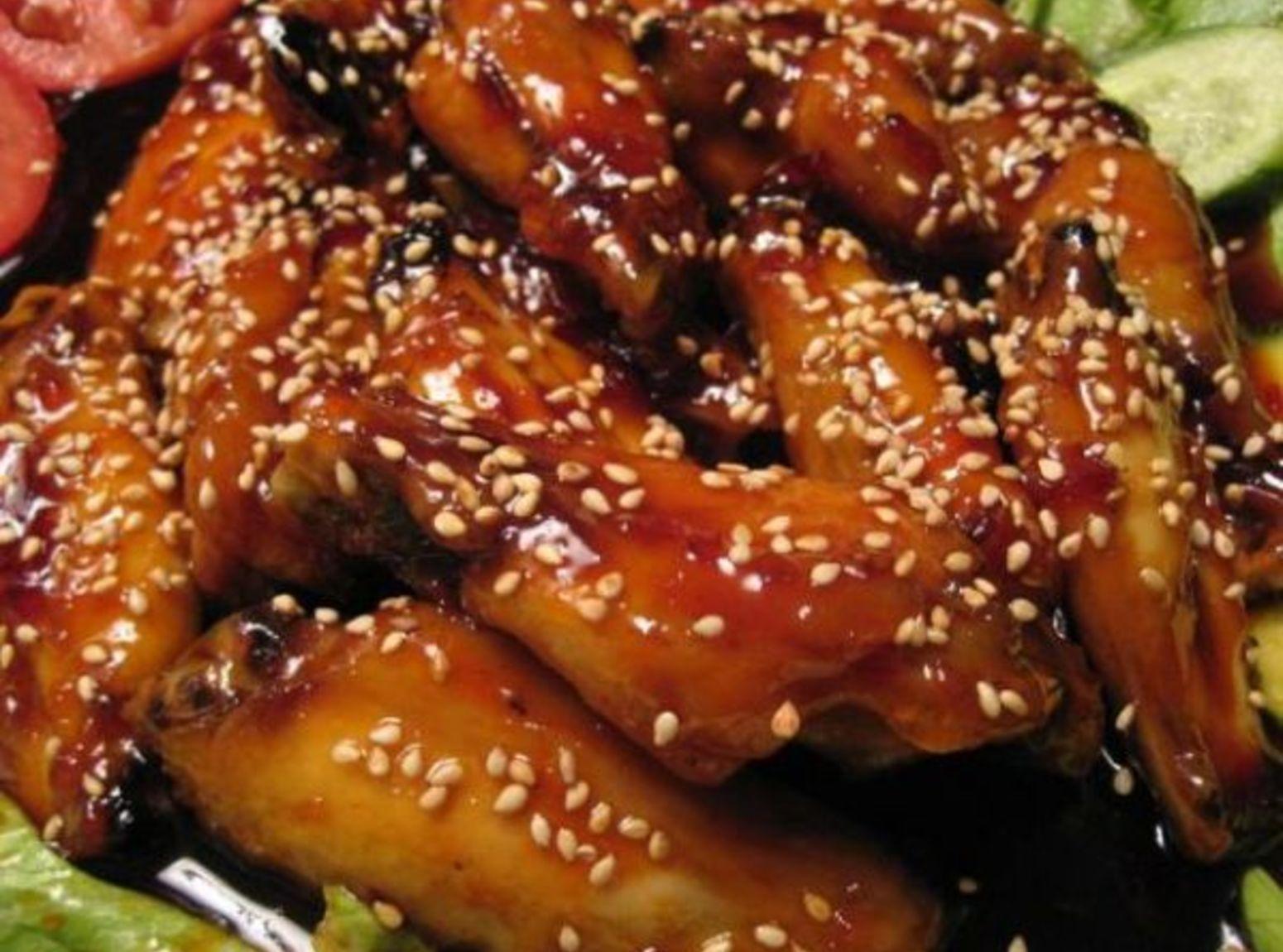 BBQ SESAME CHICKEN WINGS Recipe