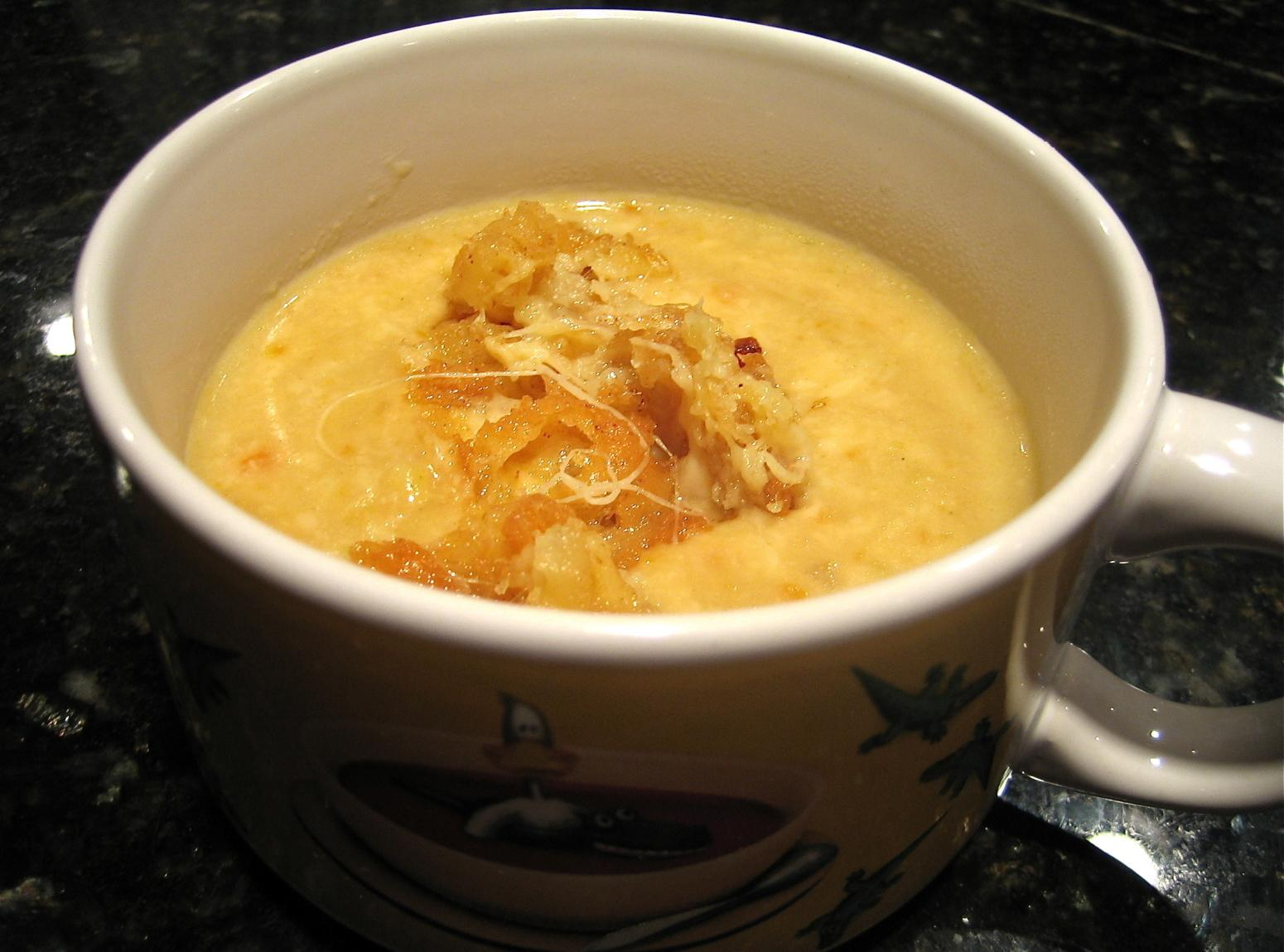WISCONSIN BEER CHEESE SOUP WITH FRIED CHEESE CURDS Recipe ...