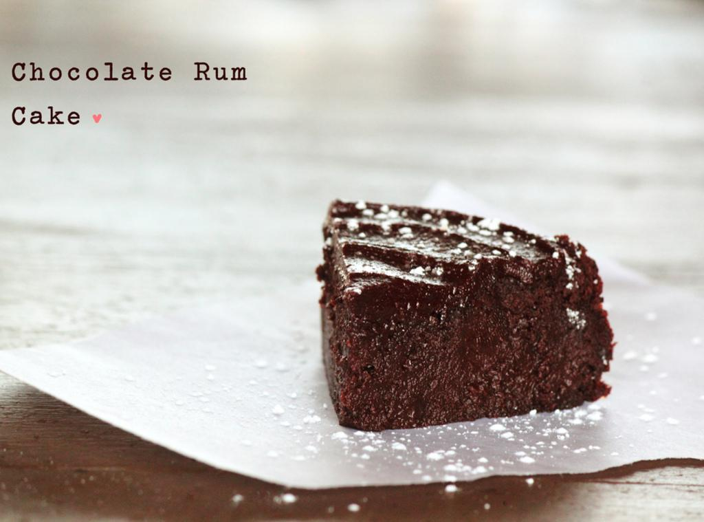 Flourless Chocolate Rum Cake with Chocolate Rum Glaze Recipe | Just A ...