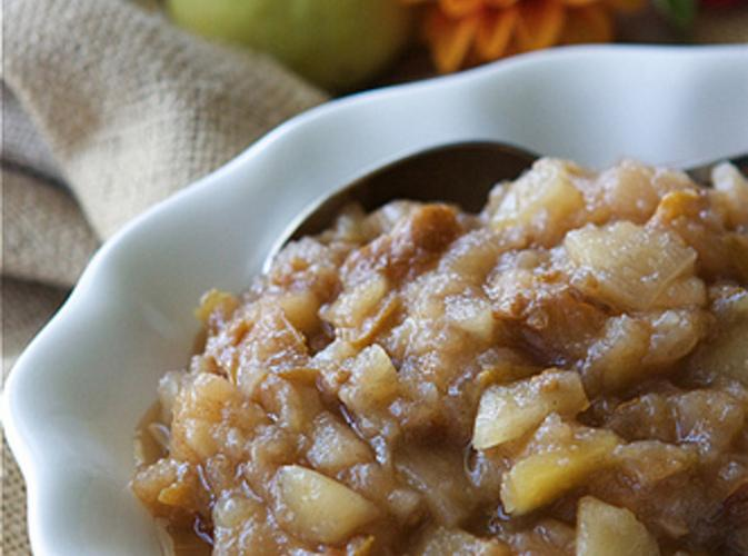 Crockpot Pear & Ginger Applesauce Recipe | Just A Pinch Recipes