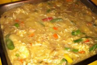Funeral Chicken and Rice Casserole Recipe