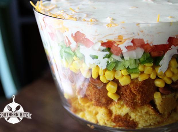Corn Bread Layered Salad Recipe   Just A Pinch Recipes