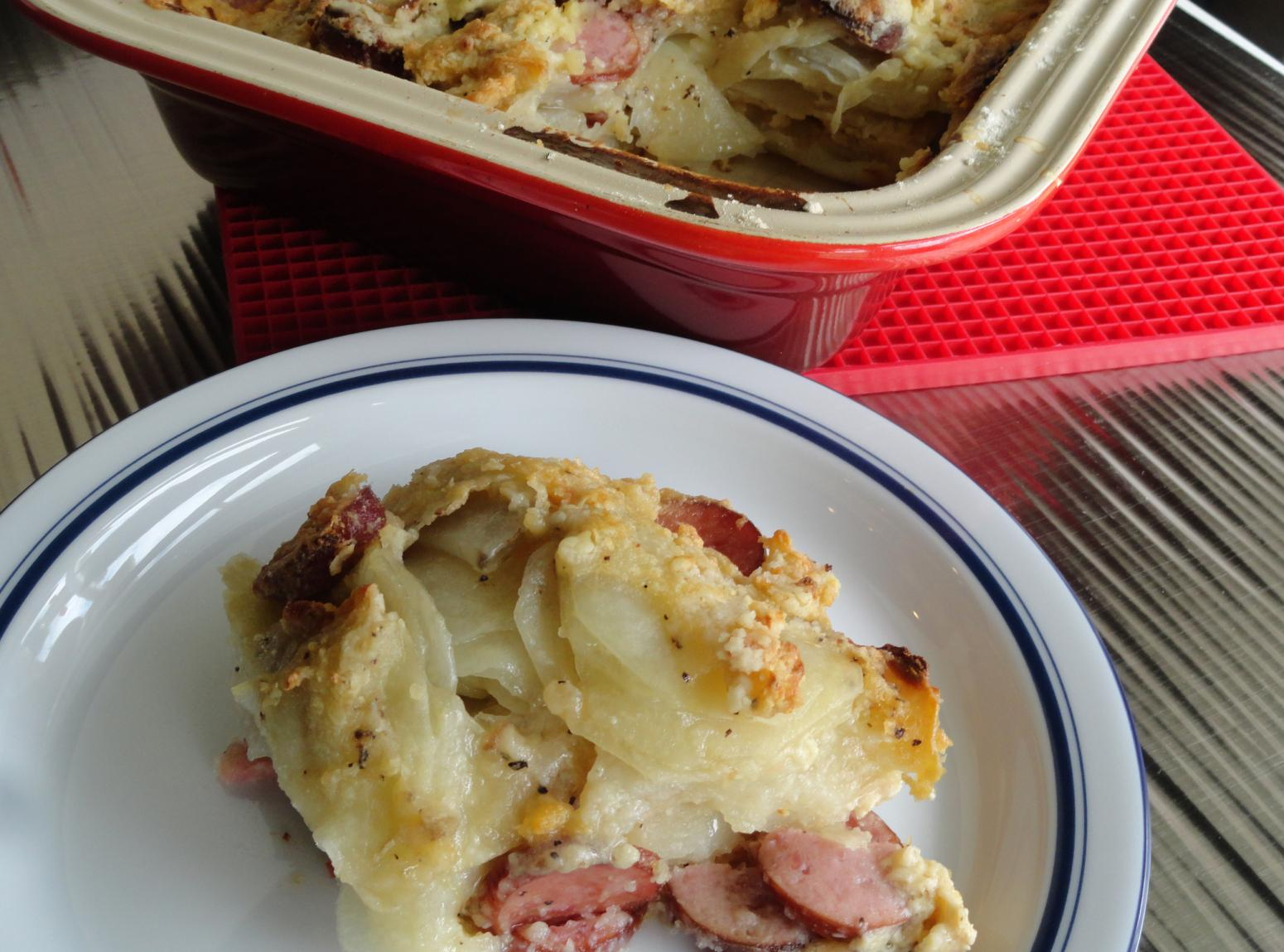 Scalloped Potatoes with Smoked Sausage Recipe