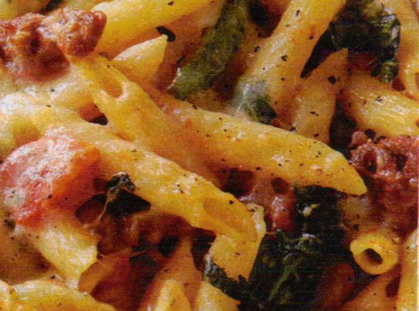 Baked Ziti with Broccoli Rabe and Hot Italian Saus Recipe