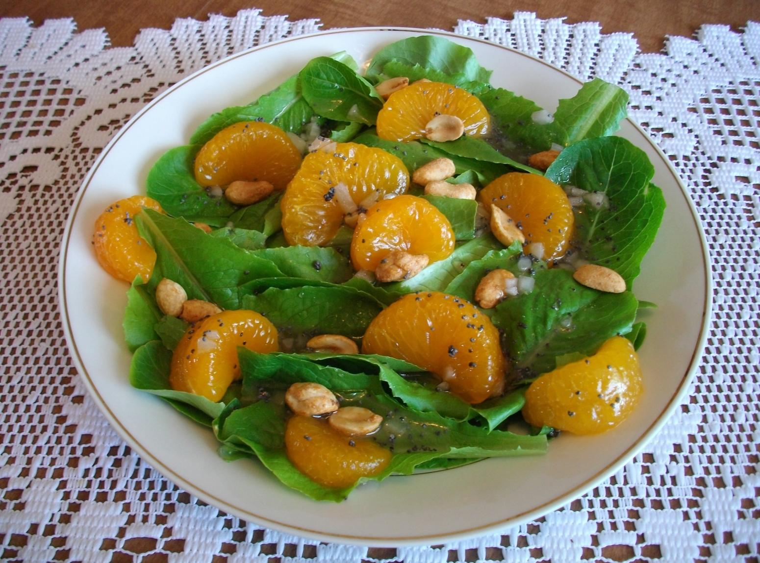 Mandarin Orange Salad With Peanuts Recipe | Just A Pinch ...