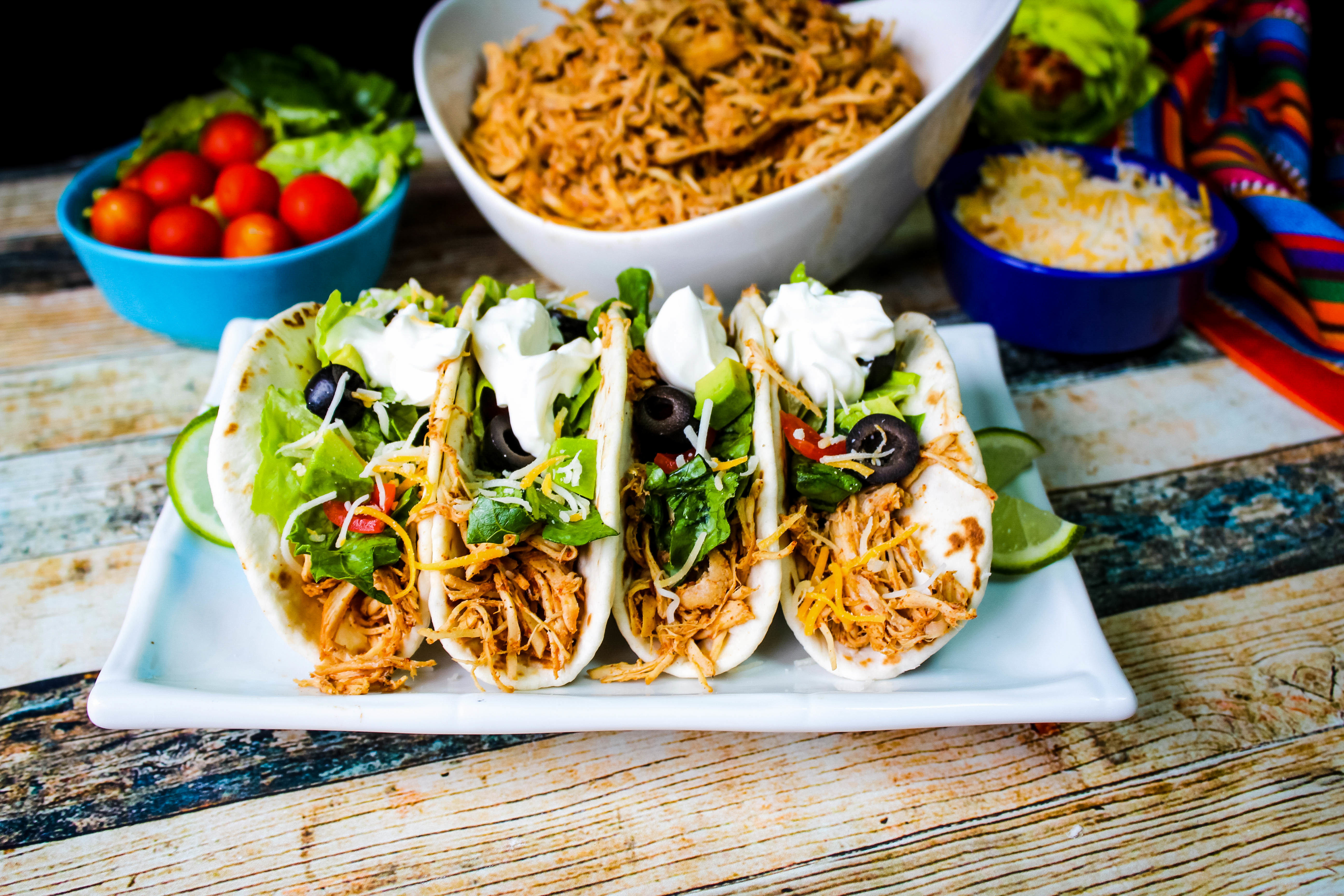 Slow Cooker Shredded Taco Chicken Recipe
