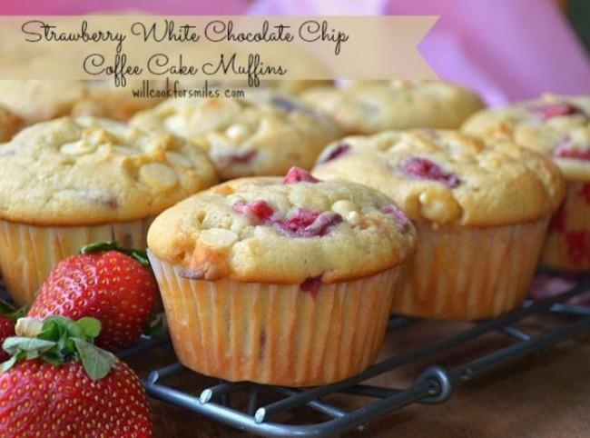 Muffin Strawberry White Chocolate Strawberry White Chocolate