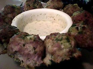 Pesto Green Tomato Turkey Balls Recipe