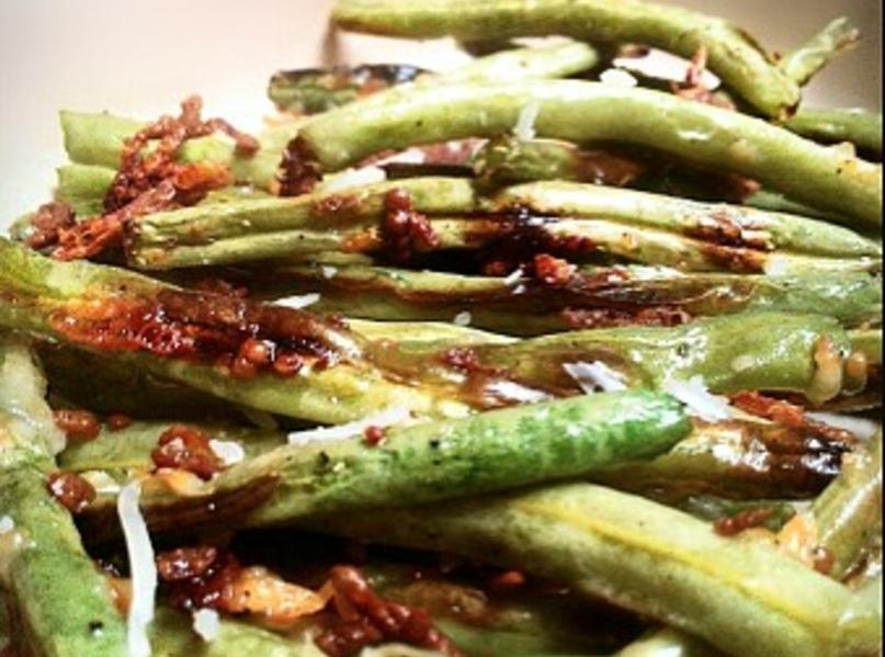 Parmesan-Roasted Green Beans Recipe | Just A Pinch Recipes