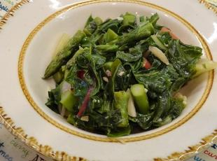 Quick Tasty Red Swiss Chard w/Asparagus Recipe
